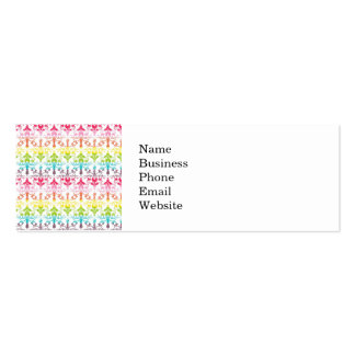 Colorful Girly Rainbow Pattern Double-Sided Mini Business Cards (Pack Of 20)