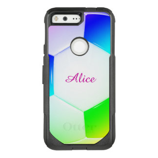 Colorful Girly Soccer | Football OtterBox Commuter Google Pixel Case