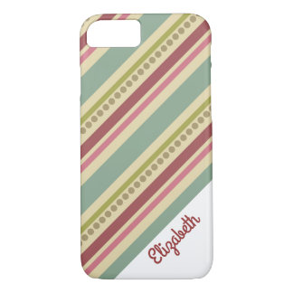Colorful Girly Stripes iPhone 7 case