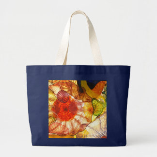 Colorful Glass Abstract Large Tote Bag