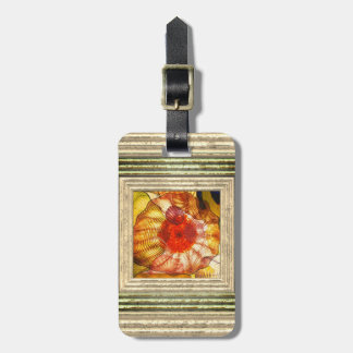 Colorful Glass Abstract Luggage Tag