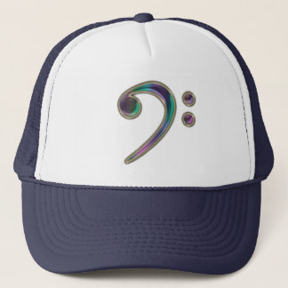 Colorful Glass Bass Clef Music Hat