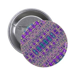 Colorful Glass Beads Abstract 2 Inch Round Button