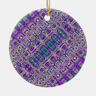 Colorful Glass Beads Abstract Ceramic Ornament