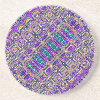 Colorful Glass Beads Abstract Coaster