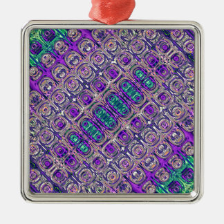Colorful Glass Beads Abstract Metal Ornament