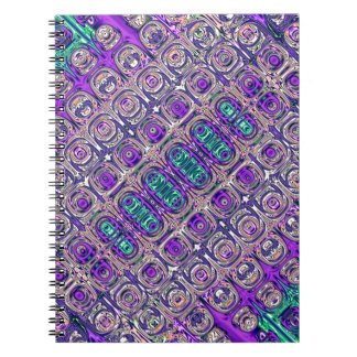 Colorful Glass Beads Abstract Notebook