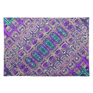 Colorful Glass Beads Abstract Placemat