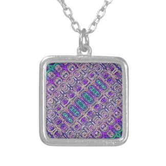Colorful Glass Beads Abstract Silver Plated Necklace