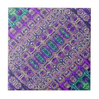 Colorful Glass Beads Abstract Tile