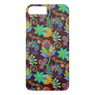 Colorful Glass Beads Look Retro Floral Design 2 iPhone 8 Plus/7 Plus Case
