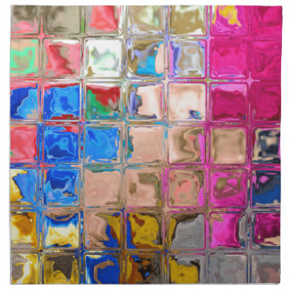 Colorful glass blocks texture napkin