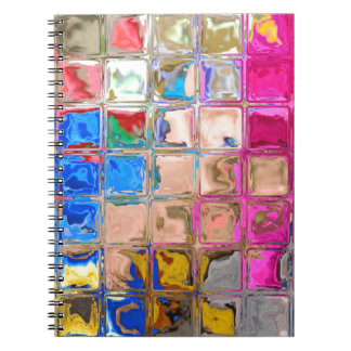 Colorful glass blocks texture notebooks