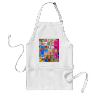 Colorful glass blocks texture standard apron