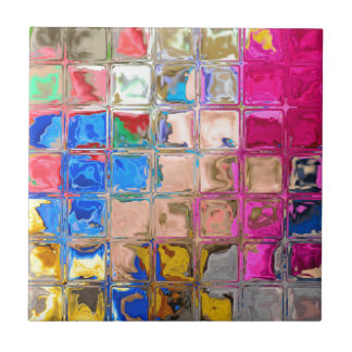 Colorful glass blocks texture tile