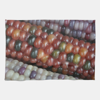 Colorful Glass Gem Corn on the Cob Kitchen Towel