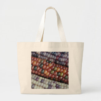 Colorful Glass Gem Corn on the Cob Large Tote Bag