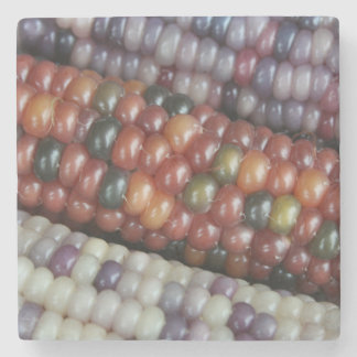 Colorful Glass Gem Corn on the Cob Stone Coaster