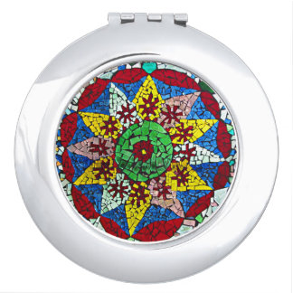 Colorful Glass Mosaic Star Compact Mirror