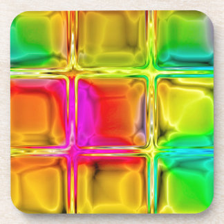 Colorful glass tiles beverage coasters