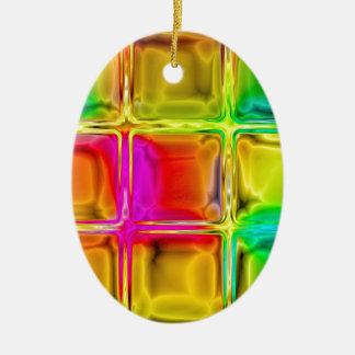 Colorful glass tiles ceramic ornament