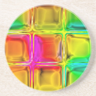 Colorful glass tiles coasters