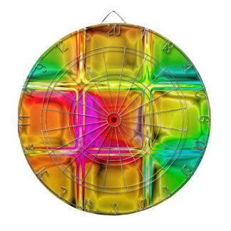 Colorful glass tiles dartboard