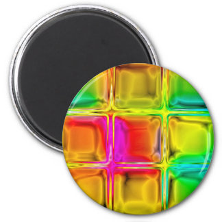 Colorful glass tiles magnet