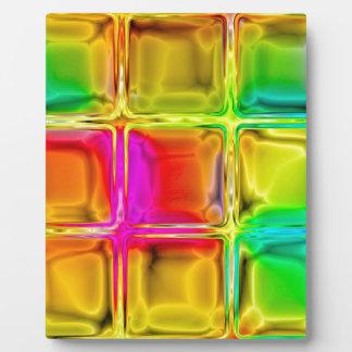 Colorful glass tiles plaque