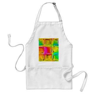 Colorful glass tiles standard apron