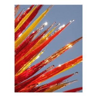 Colorful Glass Work Letterhead