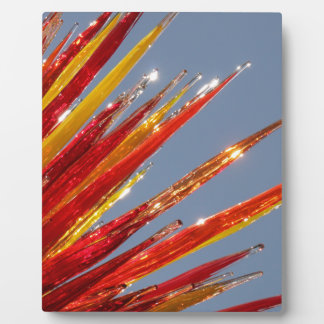 Colorful Glass Work Plaque