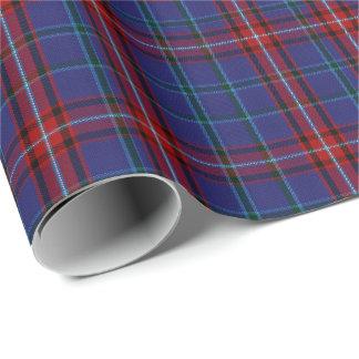 Colorful Glenn Clan Tartan Plaid Wrapping Paper