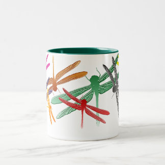 Colorful Glide Dragonfly mug