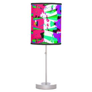 Colorful Glitch Pattern Design Desk Lamp