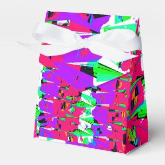 Colorful Glitch Pattern Design Favor Box