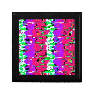 Colorful Glitch Pattern Design Gift Box