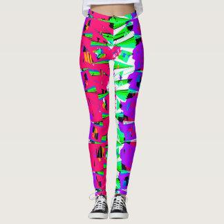 Colorful Glitch Pattern Design Leggings