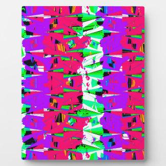 Colorful Glitch Pattern Design Plaque