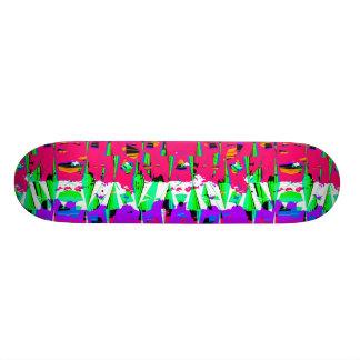 Colorful Glitch Pattern Design Skateboard Deck