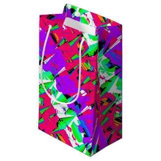 Colorful Glitch Pattern Design Small Gift Bag