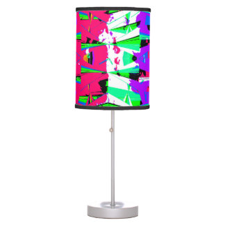 Colorful Glitch Pattern Design Table Lamp