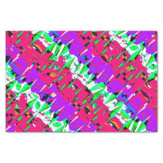 Colorful Glitch Pattern Design Tissue Paper