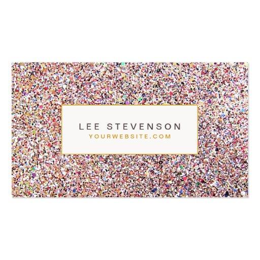 Colourful Glitter Business Card