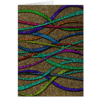 Colorful Glitter Lines Card