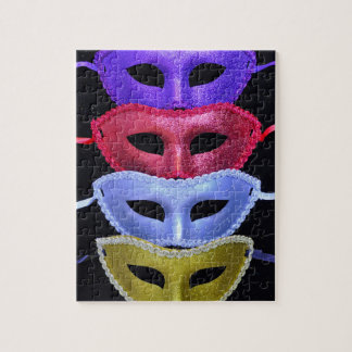 Colorful glitter masks jigsaw puzzle