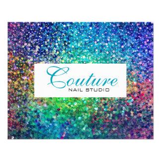 Colorful Glitter Menu List