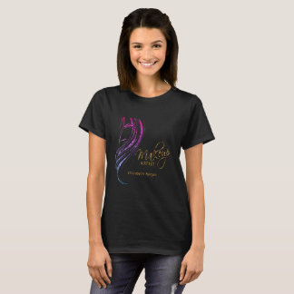 Colorful Glitter Model Girl Make up Artist T-Shirt