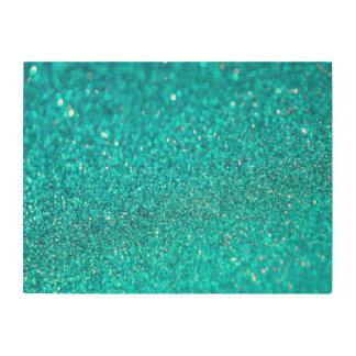 Colorful Glitter Shiny Diamonds Wood Wall Art