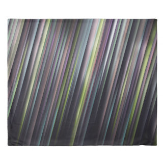 Colorful Glowing Stripes Duvet Cover